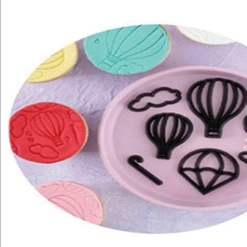 Cookie Pan 8Pcs Heißluft-Ballon Ausstecher Kunststoff Wolken...