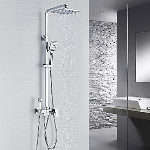 kisimixer Regendusche Duschsystem, Duscharmatur Duschset für Badezimmer mit...
