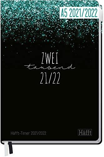 Häfft-Timer 2021/2022 A5 [Glitter] Hardcover Schüler-Kalender,...