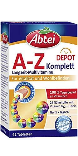 Abtei A-Z Komplett Langzeit-Multivitamine - hochdosiertes...