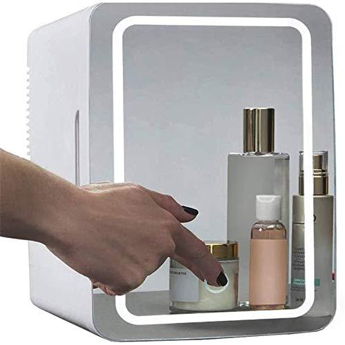 Hzlsy 2 in 1 Mini Make-up Kühlschrank 8 Liter mit Schminkspiegel LED-Licht...