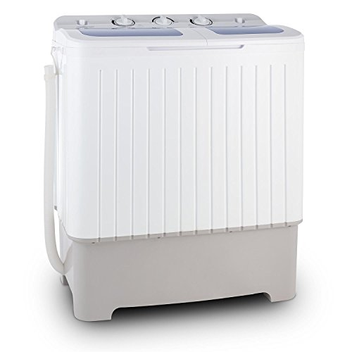 oneConcept Ecowash XXL - Waschmaschine, Mini-Waschmaschine, mit...