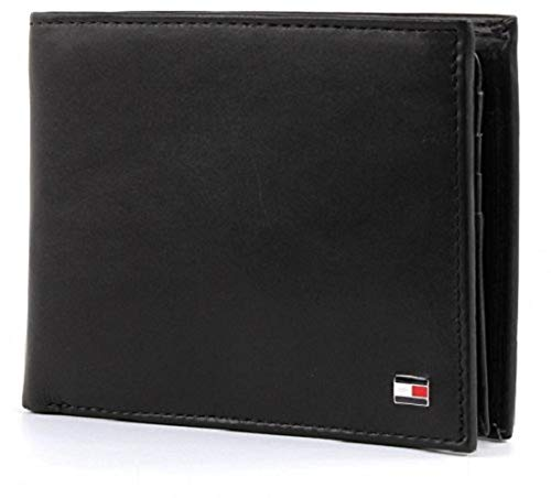 Tommy Hilfiger Herren ETON CC FLAP AND COIN POCKET Geldbörsen, Schwarz (BLACK...