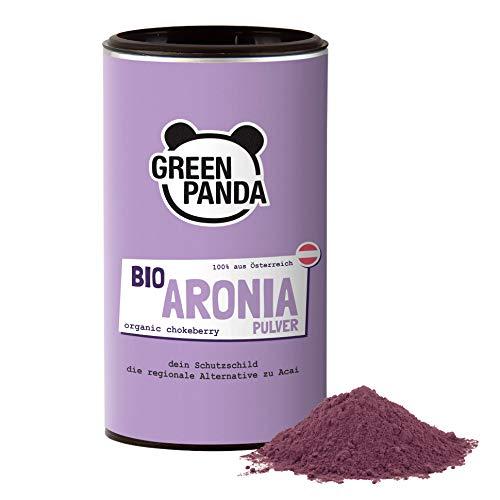 GREEN PANDA® Bio Aronia Pulver aus Österreich | getrocknete Aroniabeeren fein...