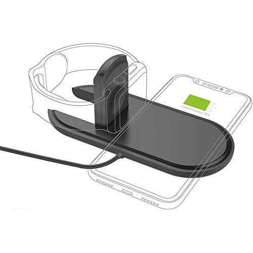 YXY-Tech Wireless Charger 2 in 1 qi Ladestation kabellos Ladegerät,kabelloses...