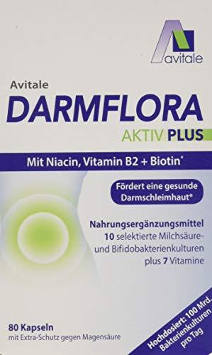 Avitale Darmflora Aktiv Plus mit 100 Mrd. Milchsäure– & Bifidobakterien aus...