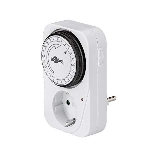 Goobay 51276 Zeitschaltuhr für die Steckdose, mit Timer, analog, für den...