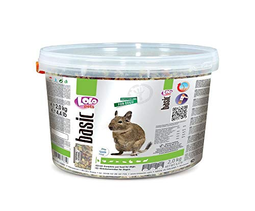 Lolo Basic Alleinfutter Für Degus 3 L, 2 Kg Eimer, Getreide, Futter, Nager