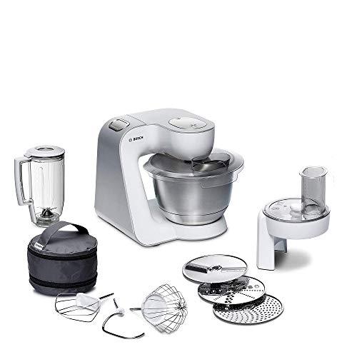 Bosch Küchenmaschine MUM5 CreationLine MUM58W20, Edelstahl-Schüssel 3,9 L,...