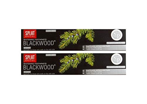 2x SPLAT BLACKWOOD fluoridfreie Kohle Zahnpasta blutstillend und...