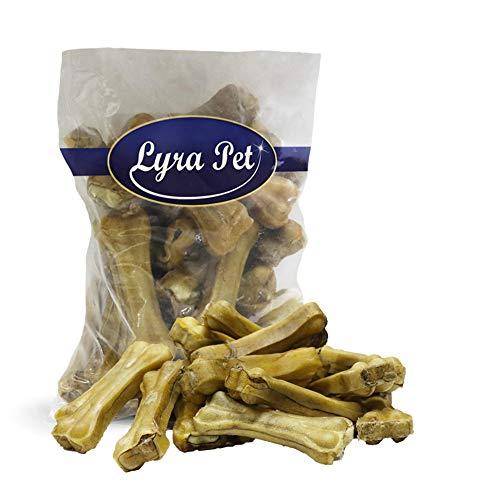 Lyra Pet 100 Kauknochen mit Ochsenziemerfüllung 10cm Rind Kausnack Hundeknochen