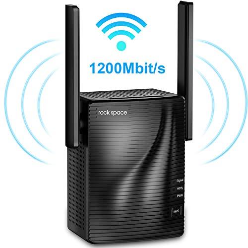 rock space WLAN Verstärker - 1200 Mbit/s WLAN Repeater 867Mbps/5GHz...