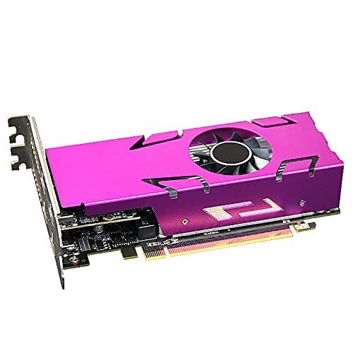 GUANYUA Grafikkarte RX550 4GB D5 4xHDMI-Direktverbindung unterstützt die aktive...