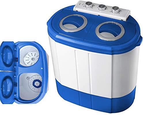 Mini Waschmaschine mit Schleuder | 2 Kammern | Waschautomat bis 3 KG |...