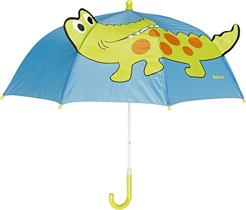 Playshoes Kinder Regenschirm Krokodil, One Size Schirm mit kindgerechtem...