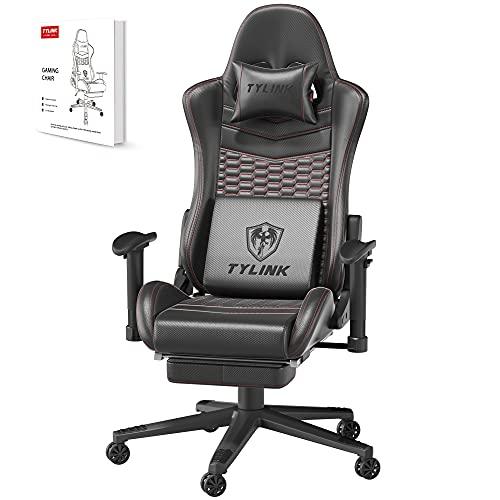 TYLINK Gaming Stuhl, Gaming Chair Sessel PC Racing Ergonomischer Stuhl Gamer...