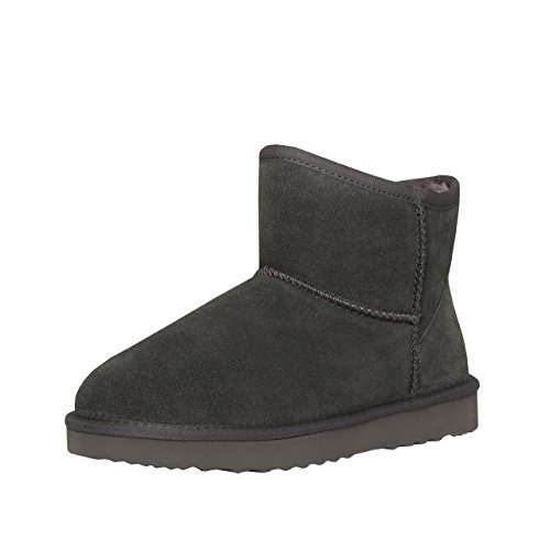 SKUTARI Classic Boots, Wildlederstiefel mit kuscheligem Kunstfell, gemütliche...