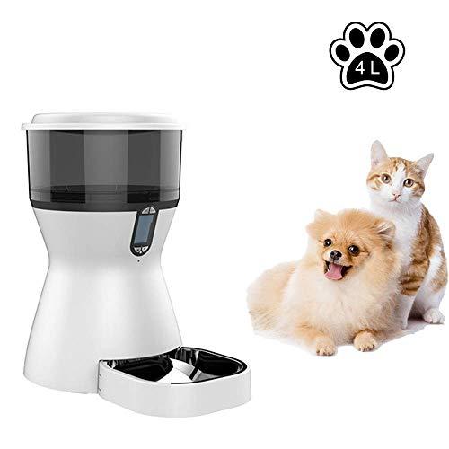 WAWZNN Intelligent Futterautomat für Haustiere, Zeitgesteuerte Quantifizierung,...