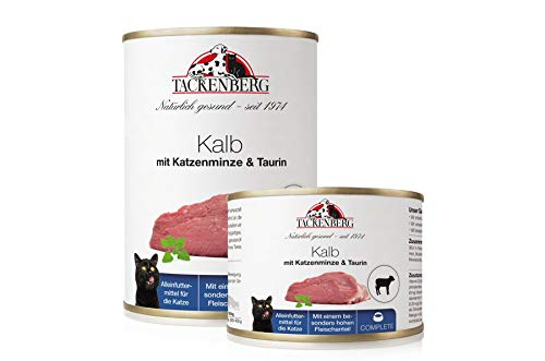 Tackenberg Katzenfutter, Nassfutter Katzen (Kalb + Katzenminze + Taurin),...