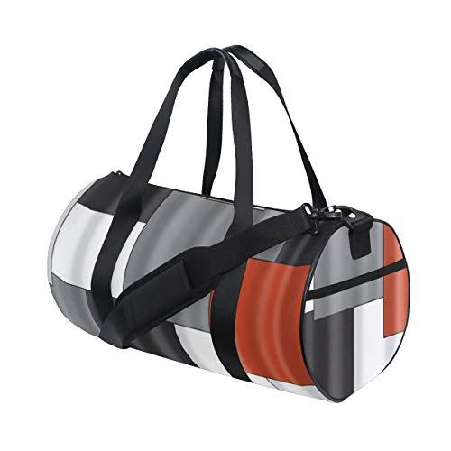 PONIKUCY Sporttasche Reisetasche,Geometrie Muster Digitaldruck,Schultergurt...