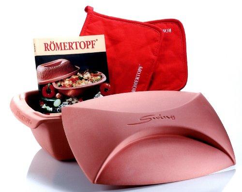 Römertopf 221205 Starter-Set Swing für 4 Personen inklusiv Topflappenpaar und...