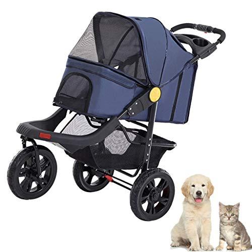 GXWLWXBB 3-Rad-Dog Kinderwagen Kinderwagen Kinderwagen, das Vorderrad 360 °...