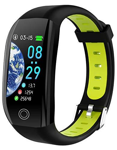 GPS Fitness Armband Sport Tracker Uhr Pulsuhr Wasserdicht Schrittzähler...
