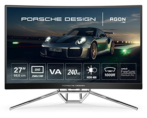 AOC AGON Porsche PD27 - 27 Zoll QHD Curved Gaming Monitor, 240 Hz, 0.5ms,...