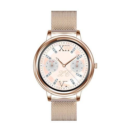 Aliwisdom Smartwatch für Damen, 1,09 Zoll Rund Smart Watch Fitness Uhr...