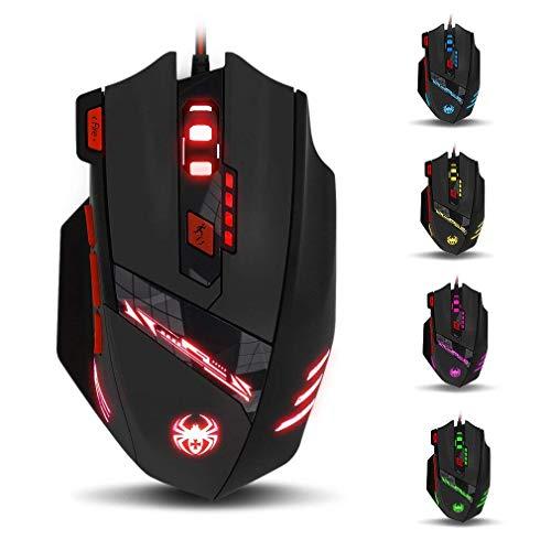 zelotes T90 Gaming Maus 9200 DPI, 8 Tasten, Multi-Modi LED, USB Gaming Maus,...