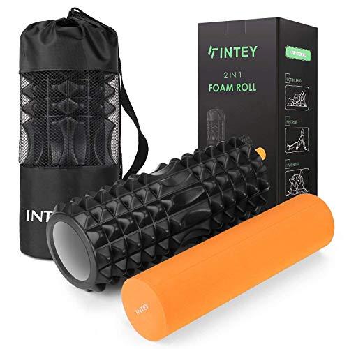 INTEY Faszienrolle Fitness Foam Roller Gymnastikrolle, Massagerolle,...
