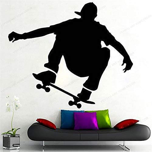 wZUN Skateboard Wandaufkleber Vinyl Skateboard Wandtattoo Home Decor Abnehmbare...