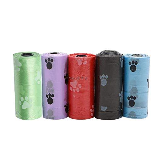 5Roll Pet Hundekot Poop Tasche Poo Printing Abbaubare Hundekotbeutel, Schwarz...