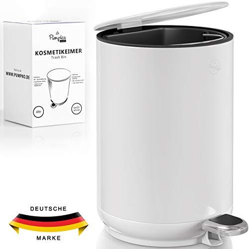 Pumpko Kosmetikeimer 4l aus Edelstahl - INKL. 100 MÜLLBEUTEL - Badezimmer...