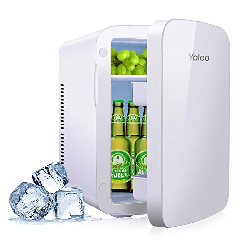 YOLEO mini-kühlschrank 15L Edelstahl, Warmhaltebox Kühlbox Auto mit Kühl- und...