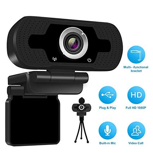 1080P Full HD Webcam mit Webcam Cover,Computer Laptop Kamera für Konferenz und...