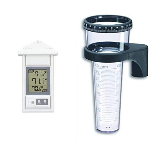 TFA Dostmann Digitales Thermometer für innen oder außen, 30.1039, wetterfest,...