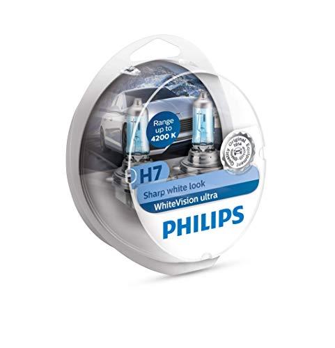 Philips 12972WVUSM WhiteVision ultra Xenon-Effekt H7 Scheinwerferlampe, 4.200K,...