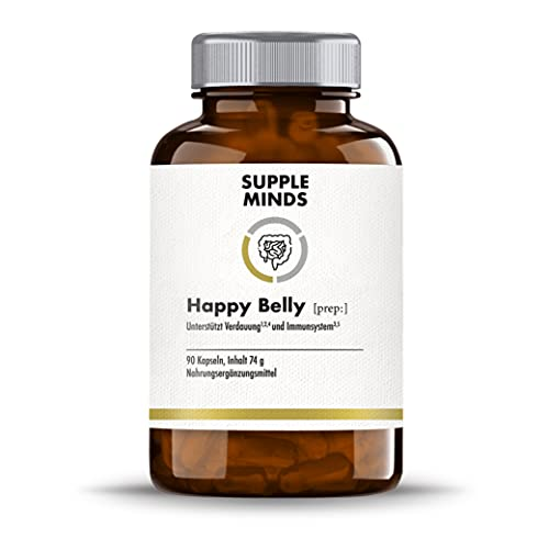 Suppleminds Happy Belly | Kulturen-Komplex mit 18 Bakterienstämmen | + Calcium,...