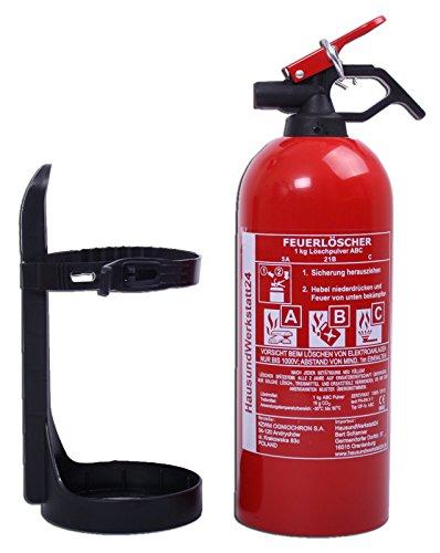 Autofeuerlöscher ABC 1kg mit Halterung (Aufladelöscher GP-1Z)