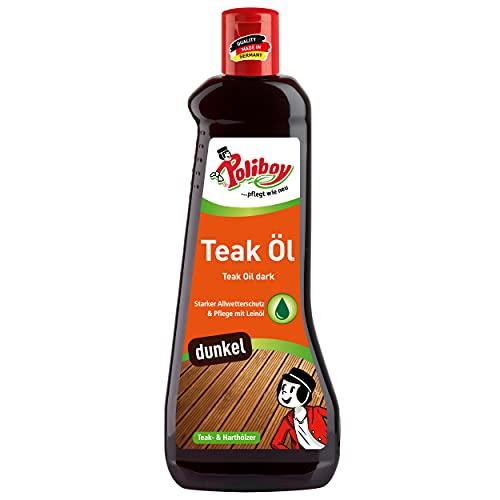 Poliboy - Teak Öl für dunkle Harthölzer - Intensive Farbauffrischung -...