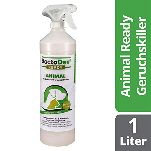 BactoDes Animal Ready - Geruchsentferner Fleckenentferner Spray,...