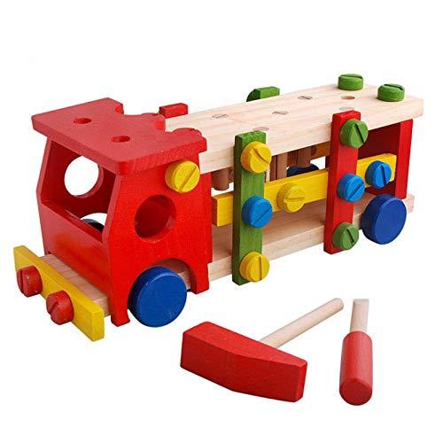 SunshineTec Spielauto aus Holz, Schraubauto, Konstruktionsspielzeug mit...