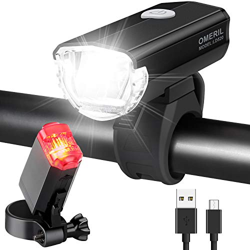 OMERIL Fahrradlicht Set Aluminium LED Fahrradlichter StVZO-Zulassung...