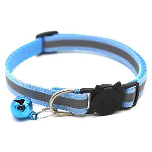 Janedream Haustier-Halsband mit Glöckchen, reflektierend, verstellbar, für...