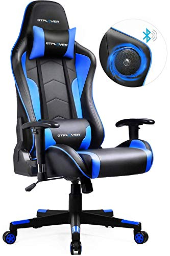 GTPLAYER Gaming Stuhl mit Lautsprecher Bürostuhl Schreibtischstuhl Musik Audio...