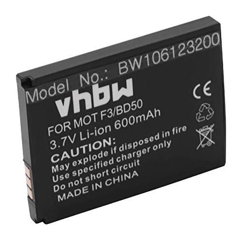 vhbw Akku kompatibel mit AVM Fritz!Fon C4, C5, EM25, EM325, M2, M325, MT-F...