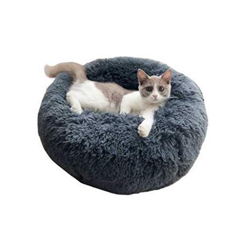 Hothap Katzen- und Hundebett Shag Fuax Fur Donut Cuddler Runde Donut Hundebetten...