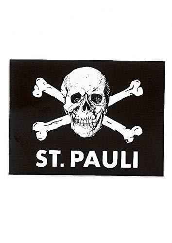 FC St. Pauli Aufkleber, Autoaufkleber, Sticker Totenkopf schwarz- Plus Aufkleber...