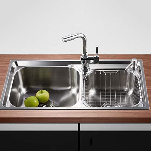 SSBH-Küchenspülen Küche mattierte Oberfläche Edelstahl-Wannen mit hohen...